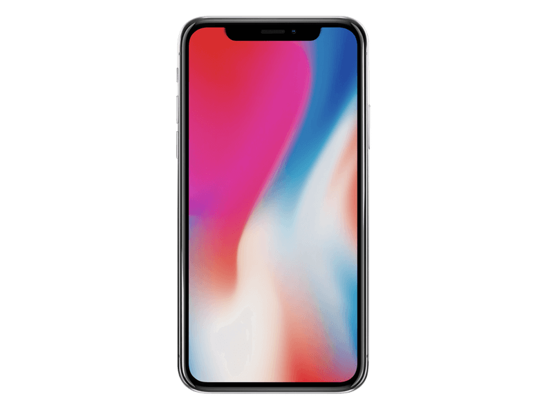 Iphone X Mockup With Colorful Background