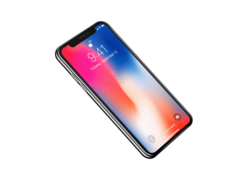 Iphone X Mockup With Transparent Back