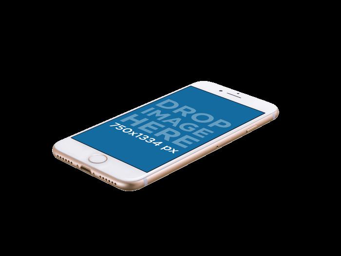 Gold Iphone 8 Mockup Optimised
