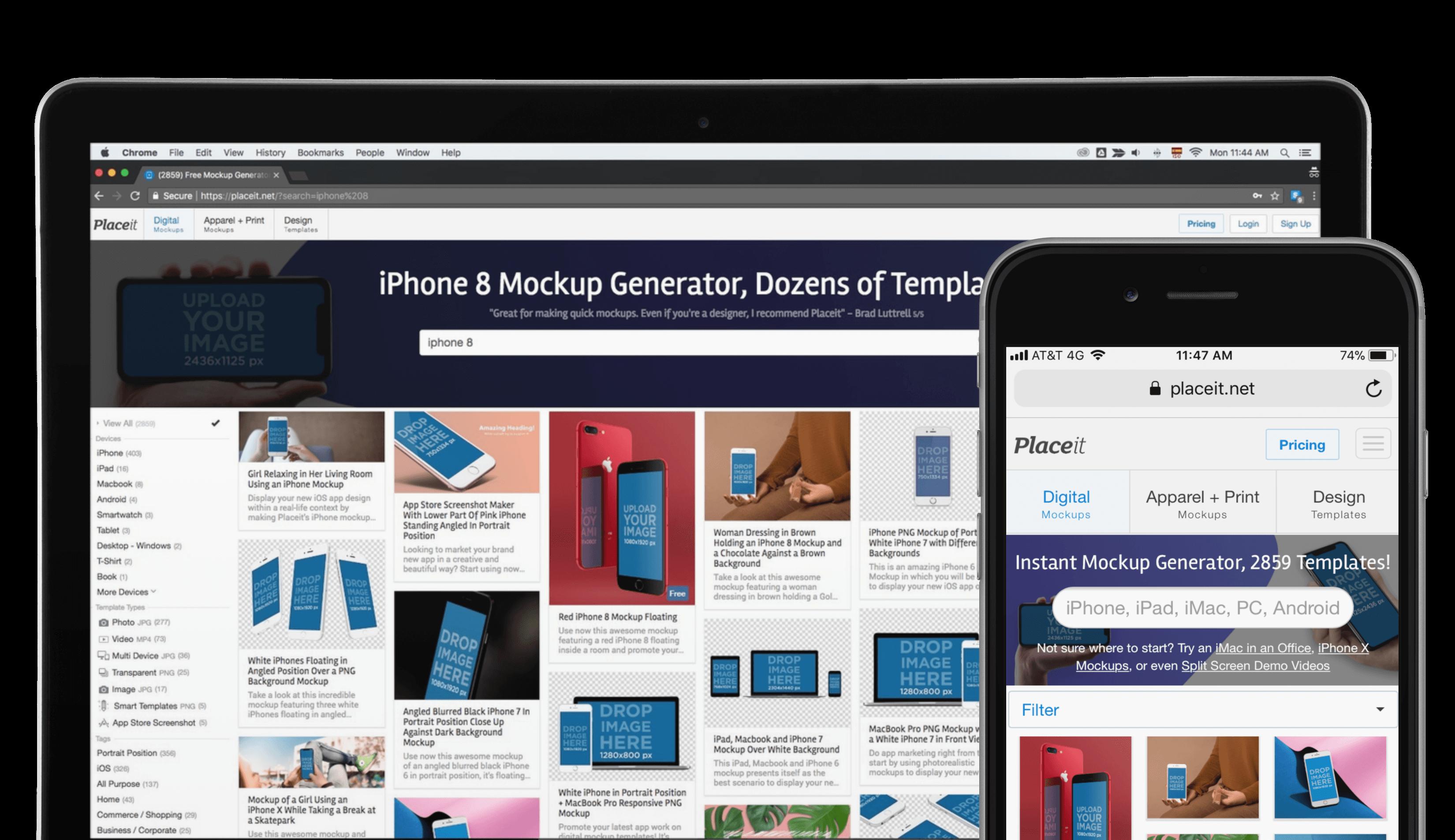Iphone 8 Mockup And Macbook Optimised 02
