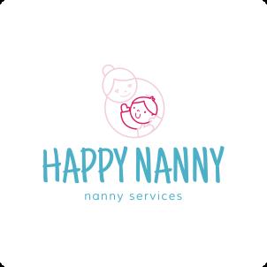 Happy Nanny Logo Maker 02
