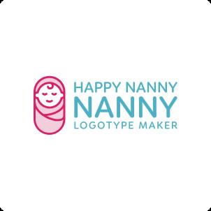 Happy Nanny Logo Maker 03