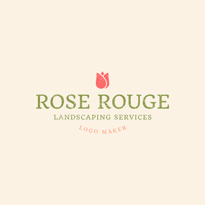 Landscaping Services Company Logo Template 1426d