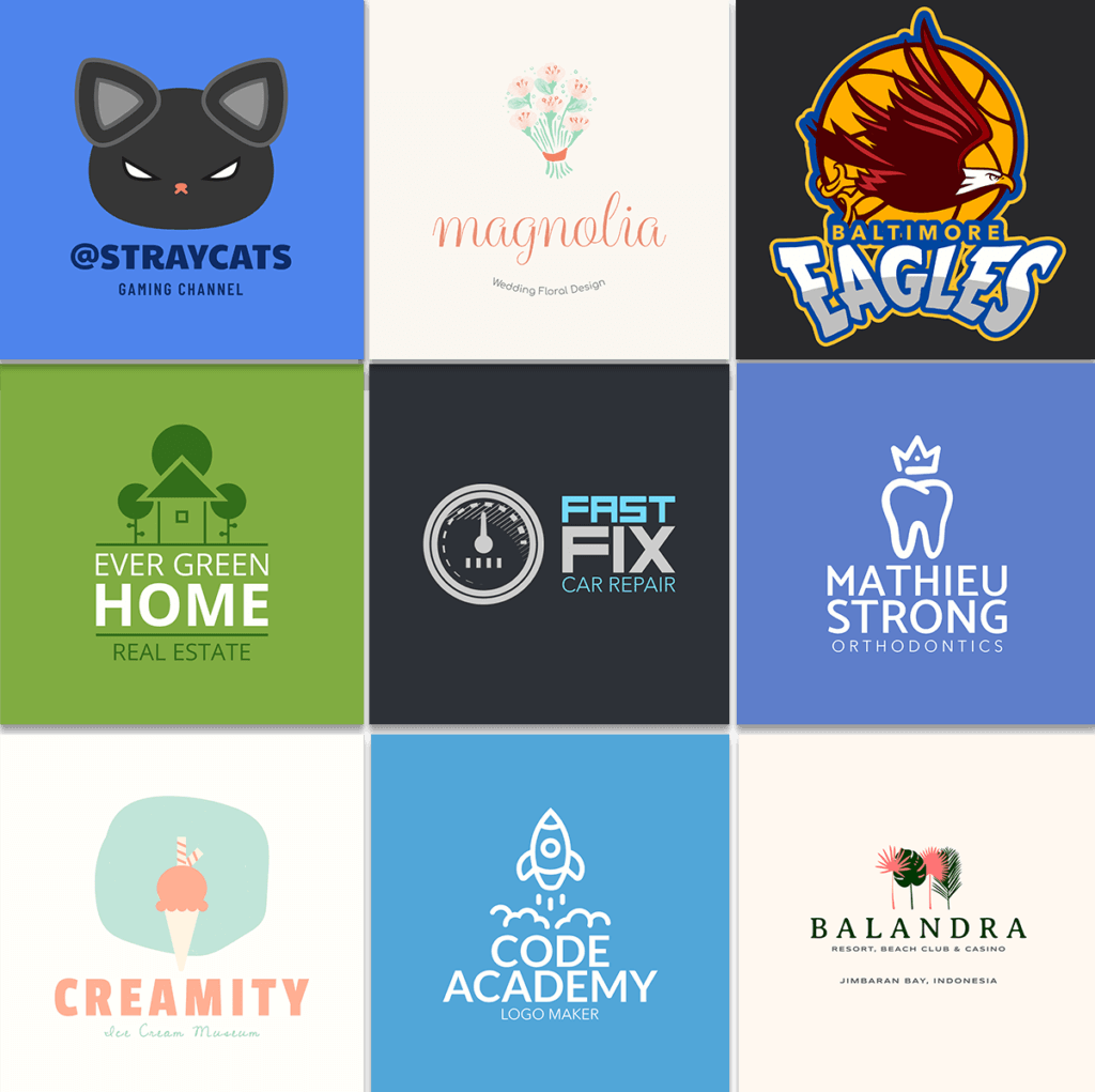 Logo Templates Designs For Different Industries