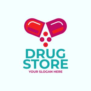 Pharmacy Logo Maker Red