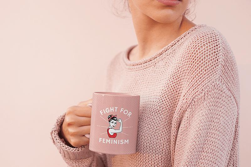 Mockup Of Coffee With Girl