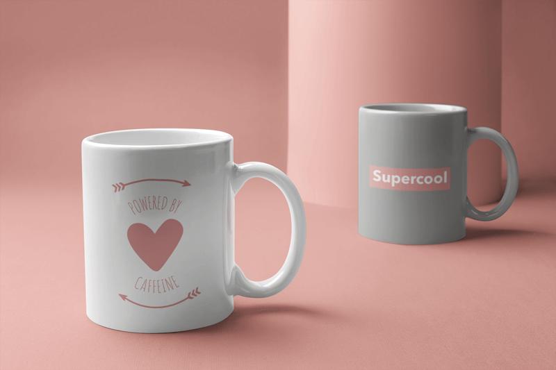 Mockup Of Two Coffee Mugs