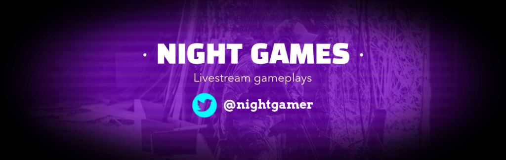 Night Games Twitch Banner
