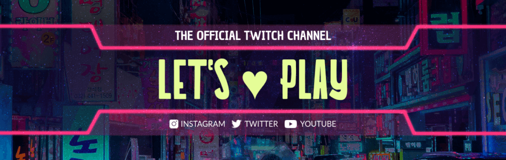 Twitch Banner Lets Play