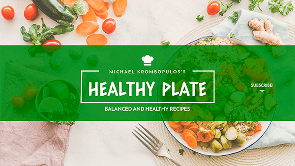 Youtube Banner Template For A Healthy Food Channel 1076b