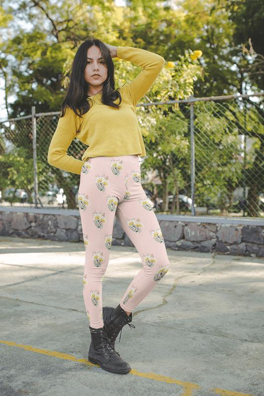 Leggings Mockup Fall Outfit