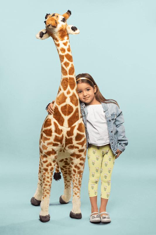 Leggings Mockup Of A Cute Little Girl