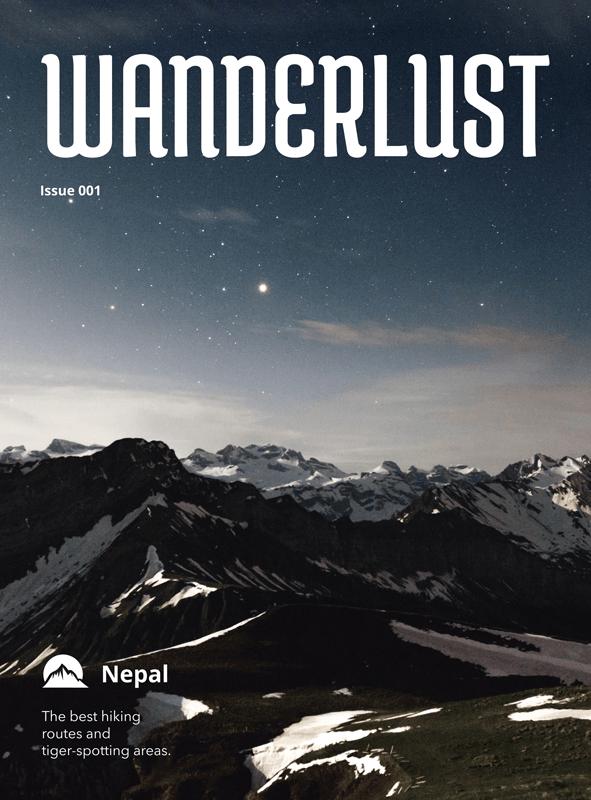 Wanderlust Travel Magazine Cover Maker