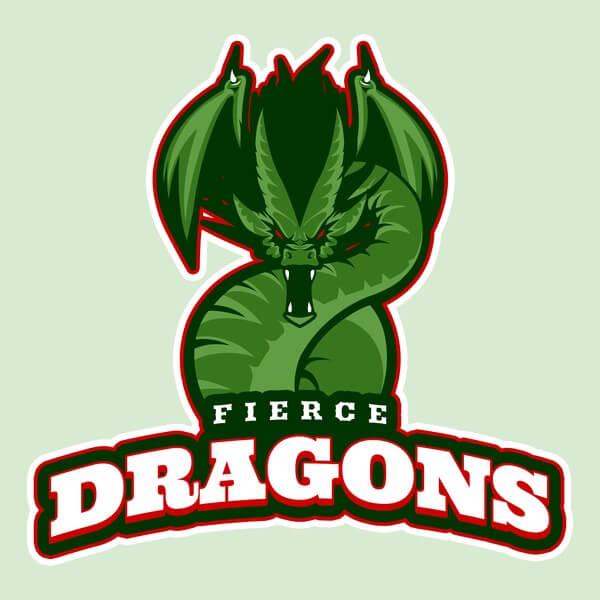 Dragons Logo Baseball Landing Page
