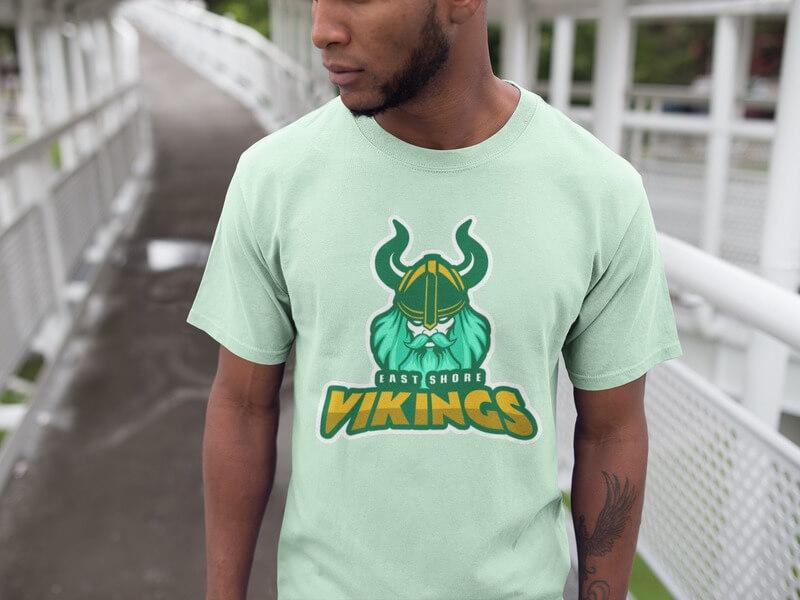 Vikings Tshirt Baseball Landing Page