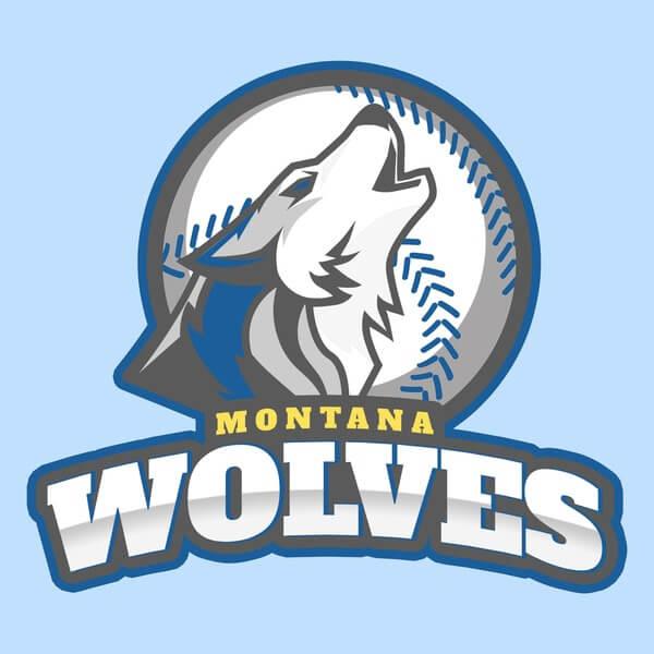 Wolves Logo Baseball Landing Page