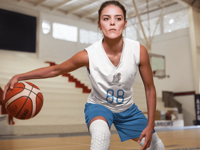 Basketball Jersey Women Mockup