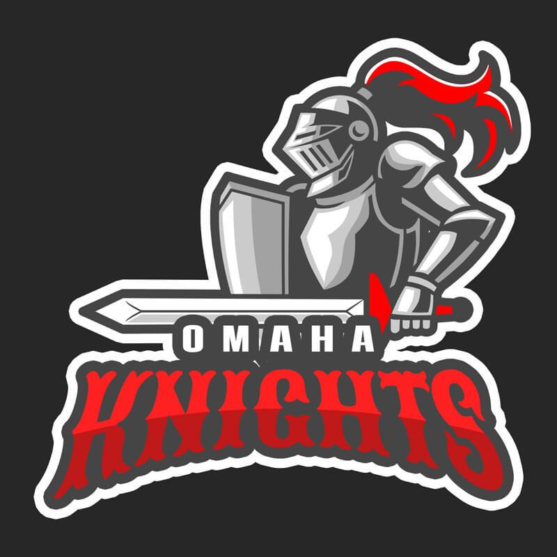 Basketball Logo featuring a Knight