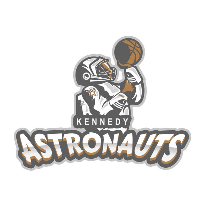 Basketball Logo with Human Character