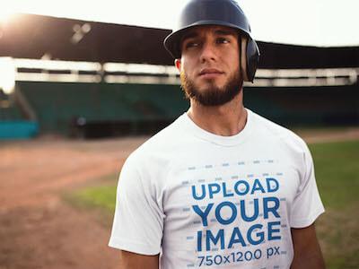 Baseball Uniform Deisgner Young Man Inside Empty Field