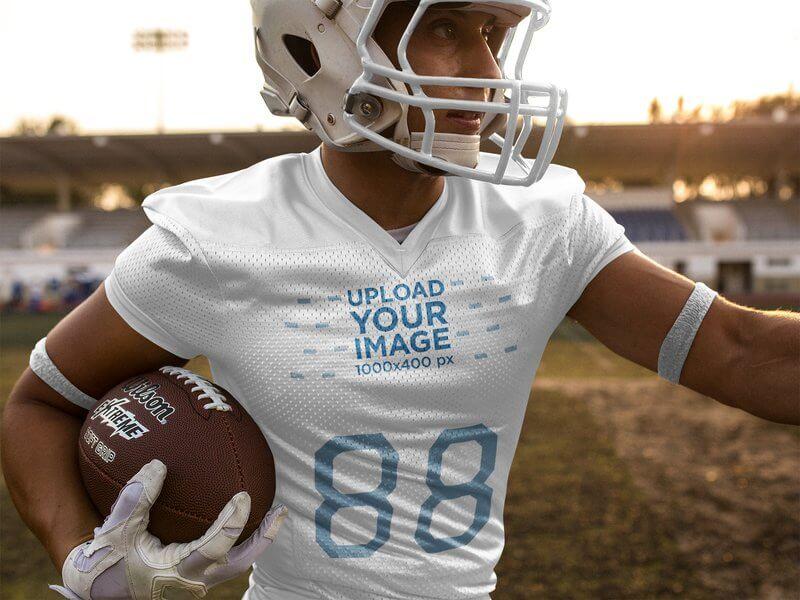 football jersey designer running