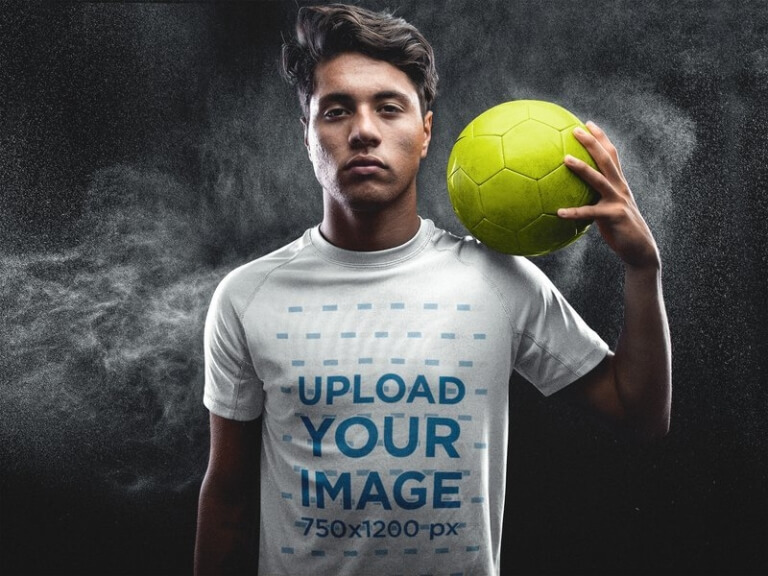 soccer jersey maker shoulder ball