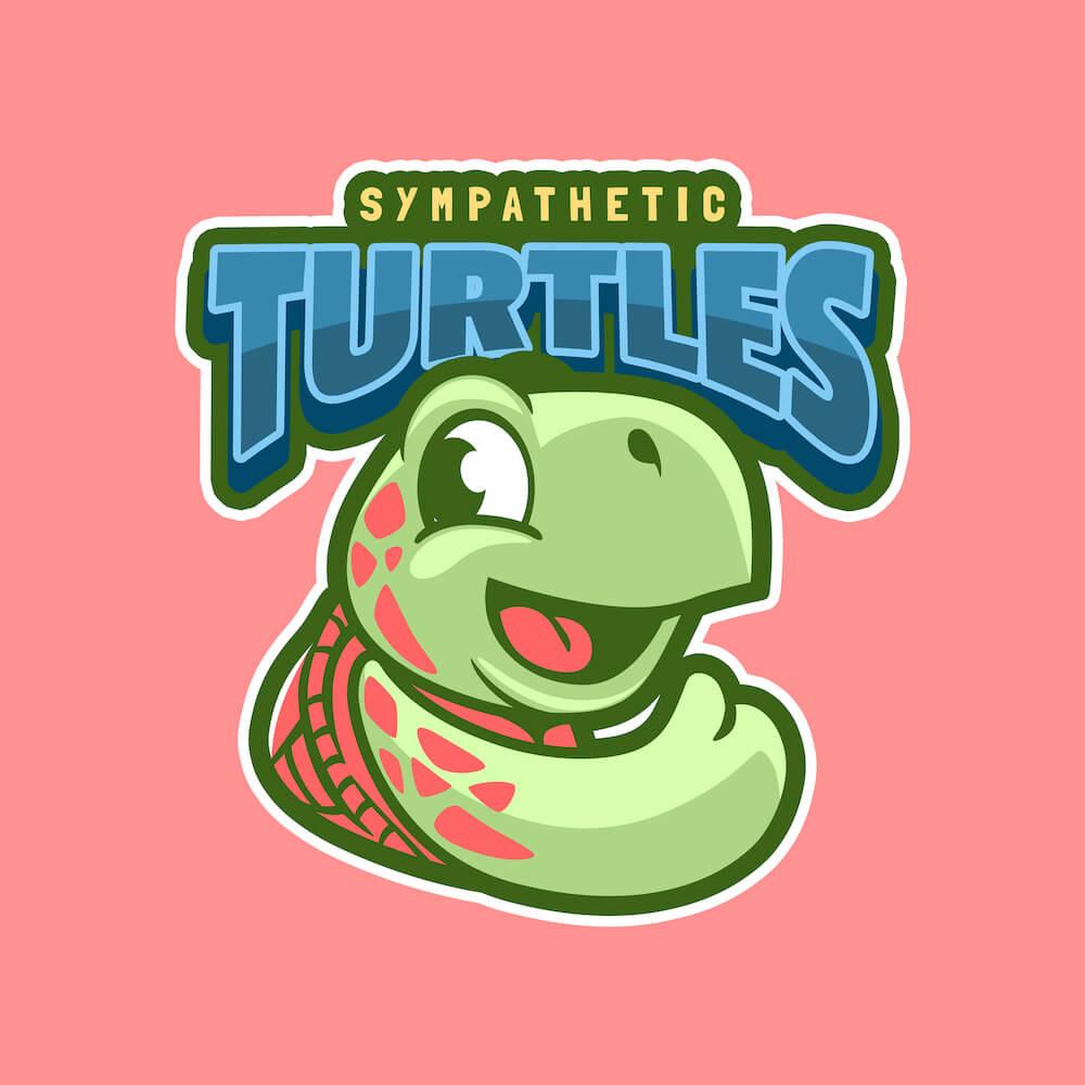 cartoonish animals logo sample 1234