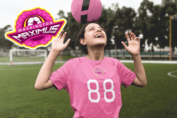 Soccer Mockup Girl Team