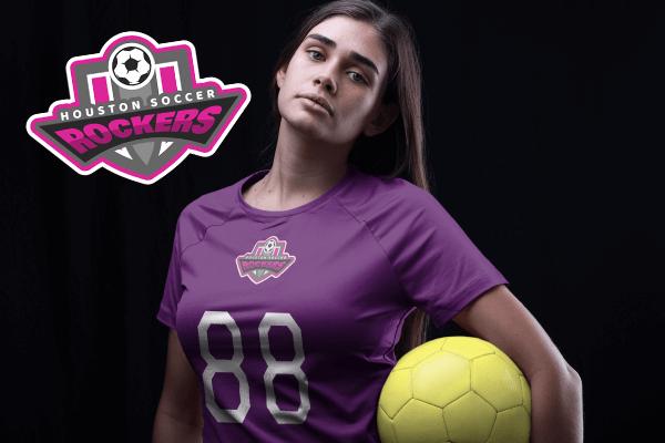 Soccer Women Mockup