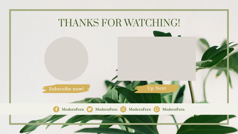 Youtube End Card Maker With An Elegant Artistic Style