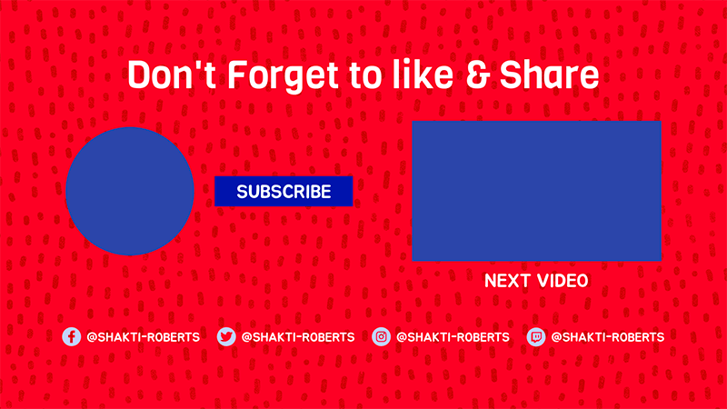 Youtube End Screen Template With A Patterned Surface
