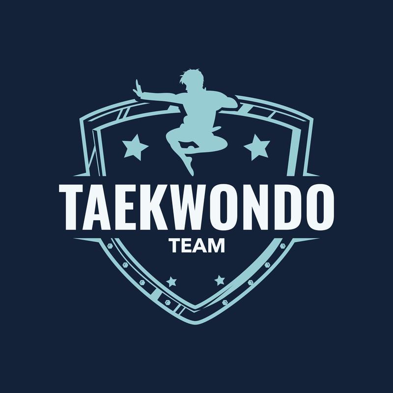 Martial Arts Logo Design Template For A Taekwondo Team