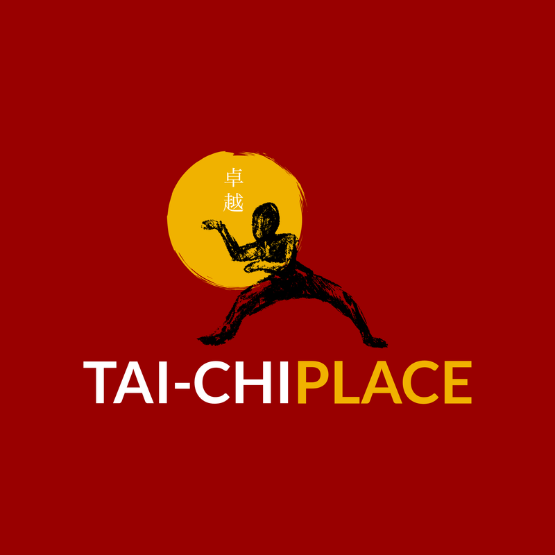 Martial Arts Logo Maker For Tai Chi Place Over Solid Background
