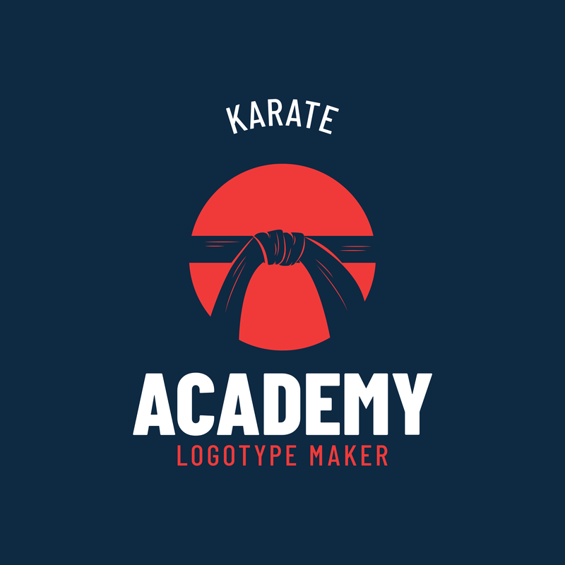Simple Martial Arts Logo Maker For A Karate Academy