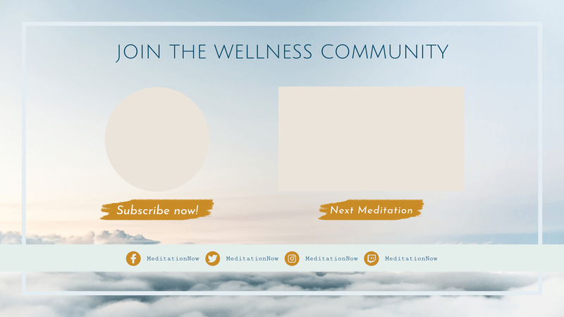 Youtube End Card Design Template For A Wellness Vlog