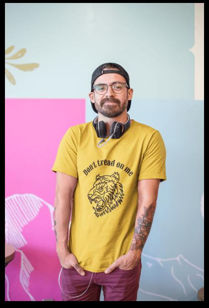 T Shirt Guy Mockup