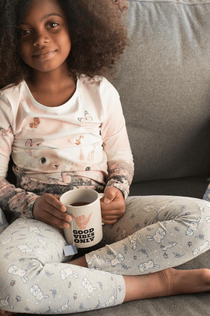 Ceramic Mug Mockup Of A Cute Little Girl