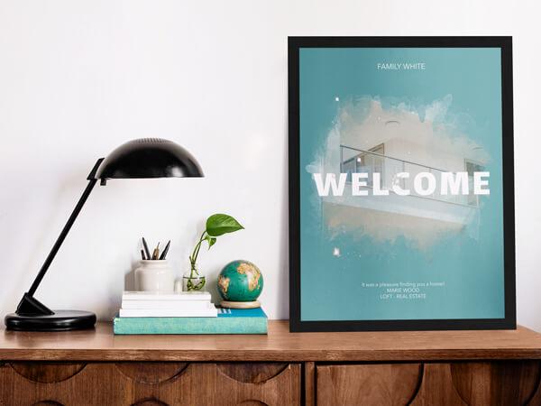 Real Estate Poster Mockup