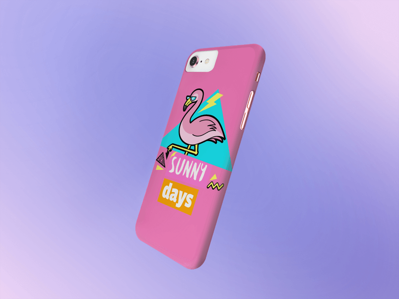 Phone Case Mockup With A Gradient Background
