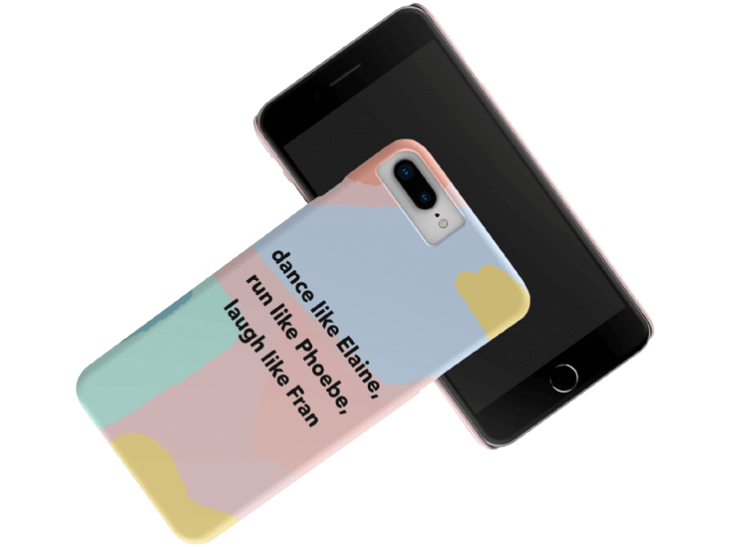 Render Mockup Of An Iphone Case Lying Over Another Iphone Over A Transparent Background