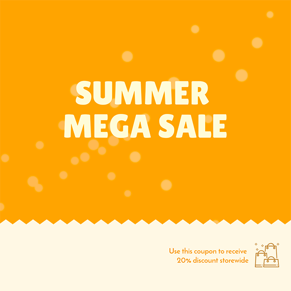 Coupon Maker For A Summer Mega Sale
