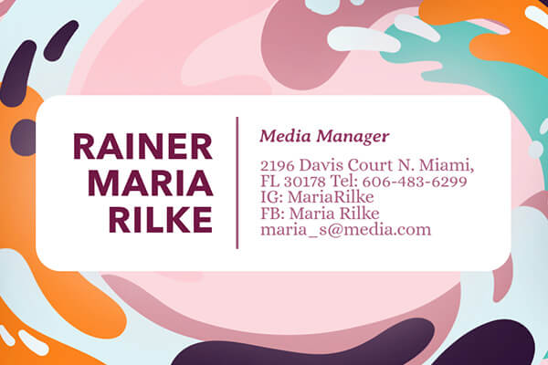 Business Card Design Maker Example