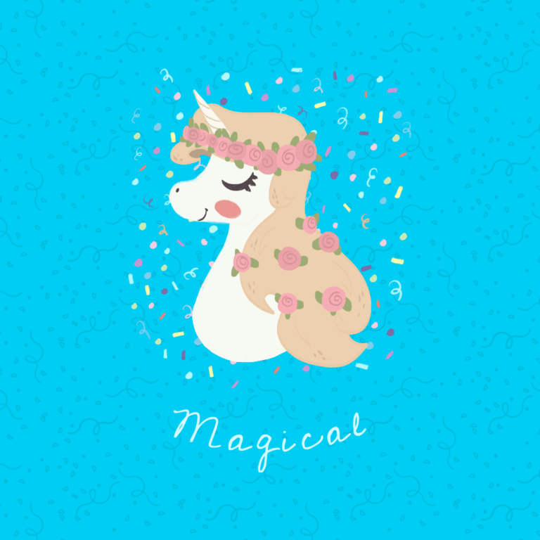 Magical Unicorn Popsocket Template 736a