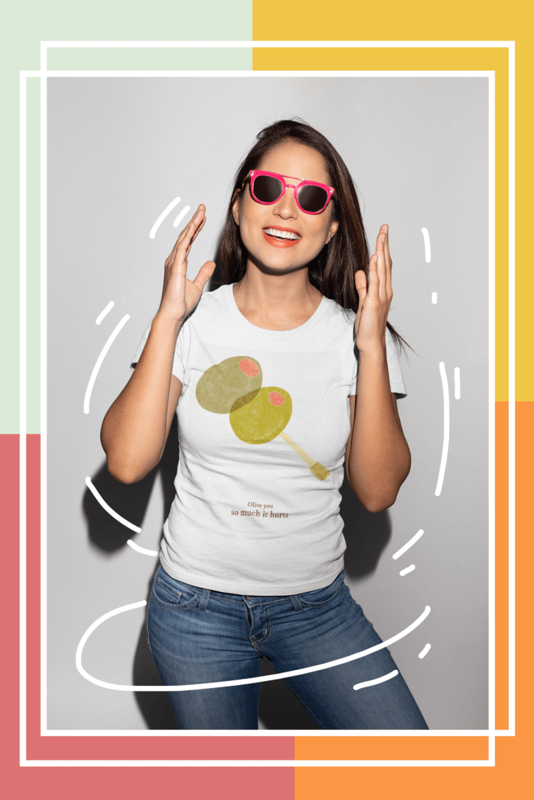T Shirt Mockup Featuring A Smiling Girl With Sunglasses 18656