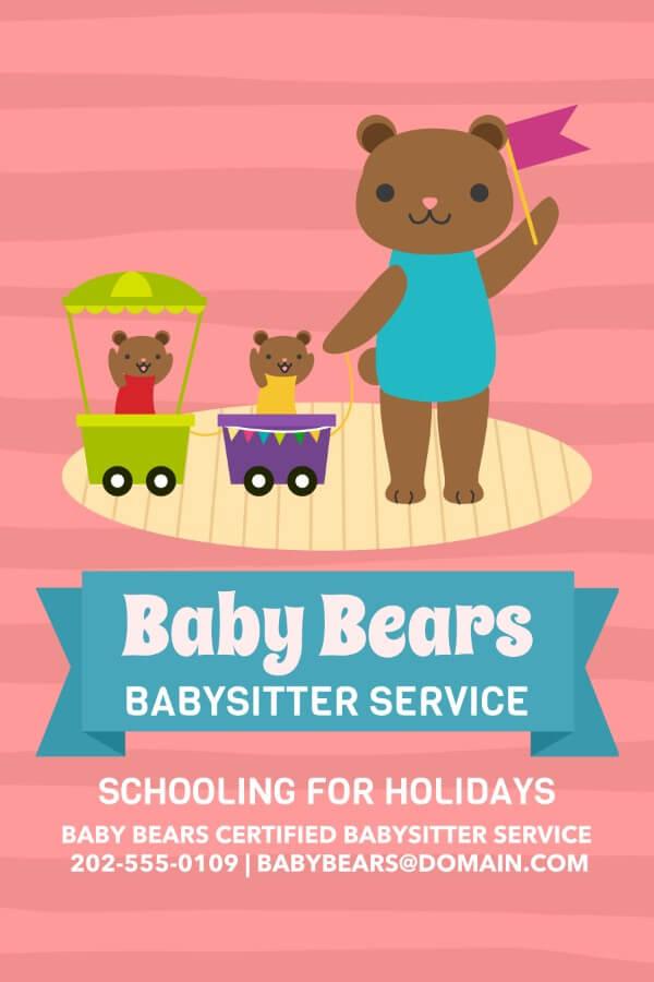 Babysitter Online Flyer Maker