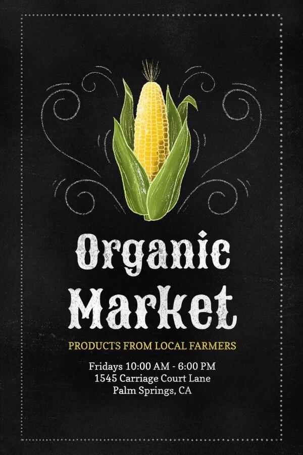 Online Flyer Template For An Organic Market