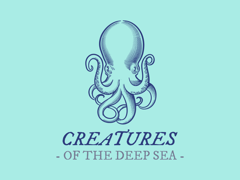 Octopus Tshirt Design Template