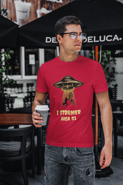 T Shirt Mockup Featuring A Young Man With Glasses
