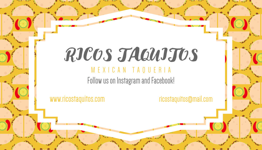 Business Card For Taco Restaurants
