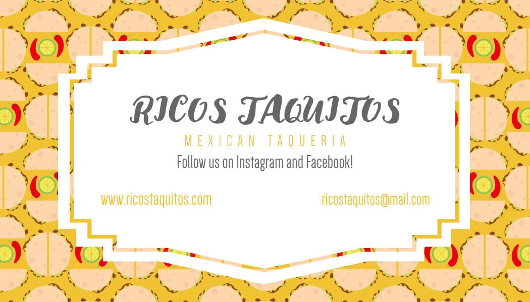 Business Card For Taco Restaurants